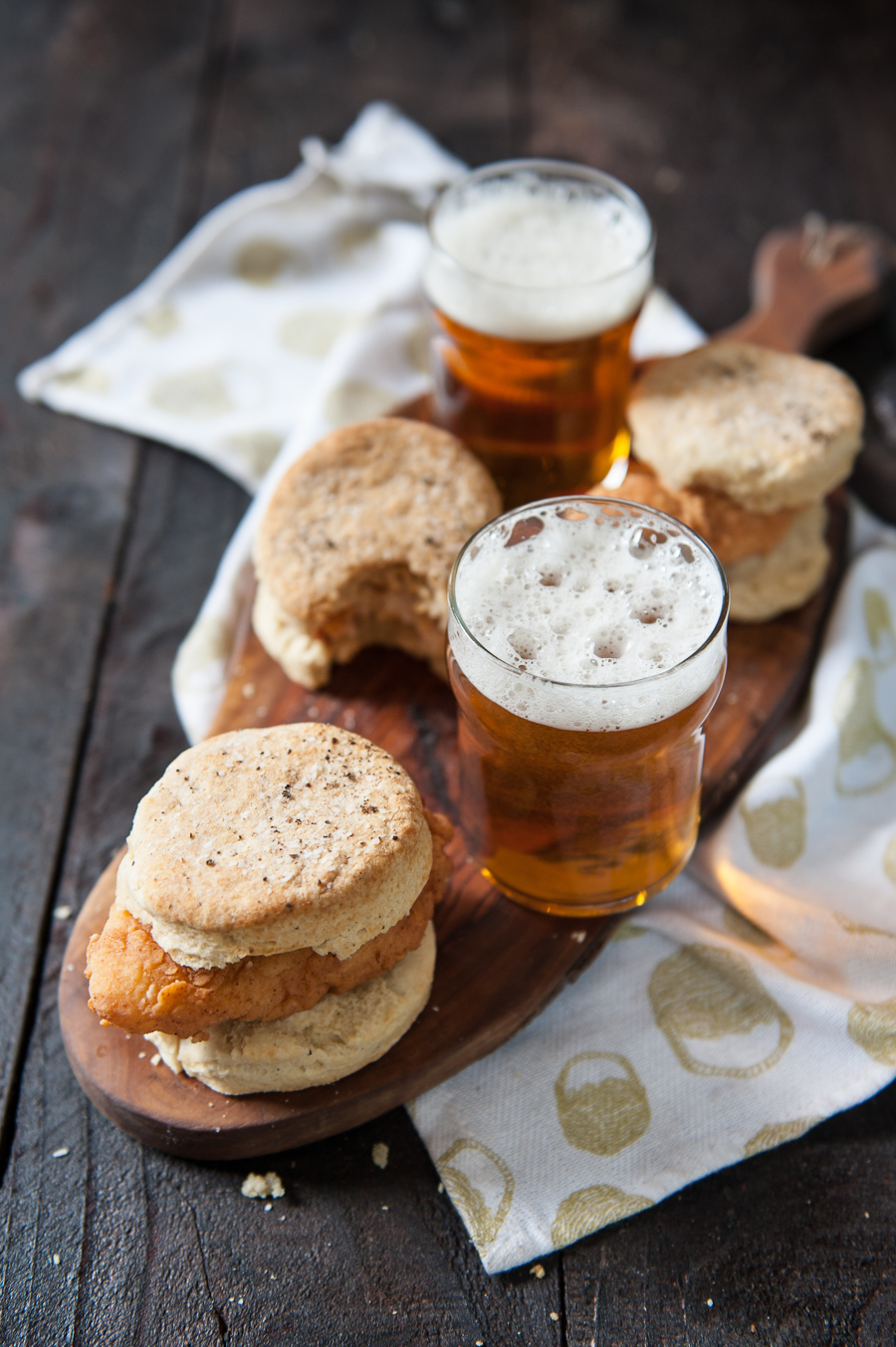 Hot Beer Fried Chicken and Pepper Biscuits -3
