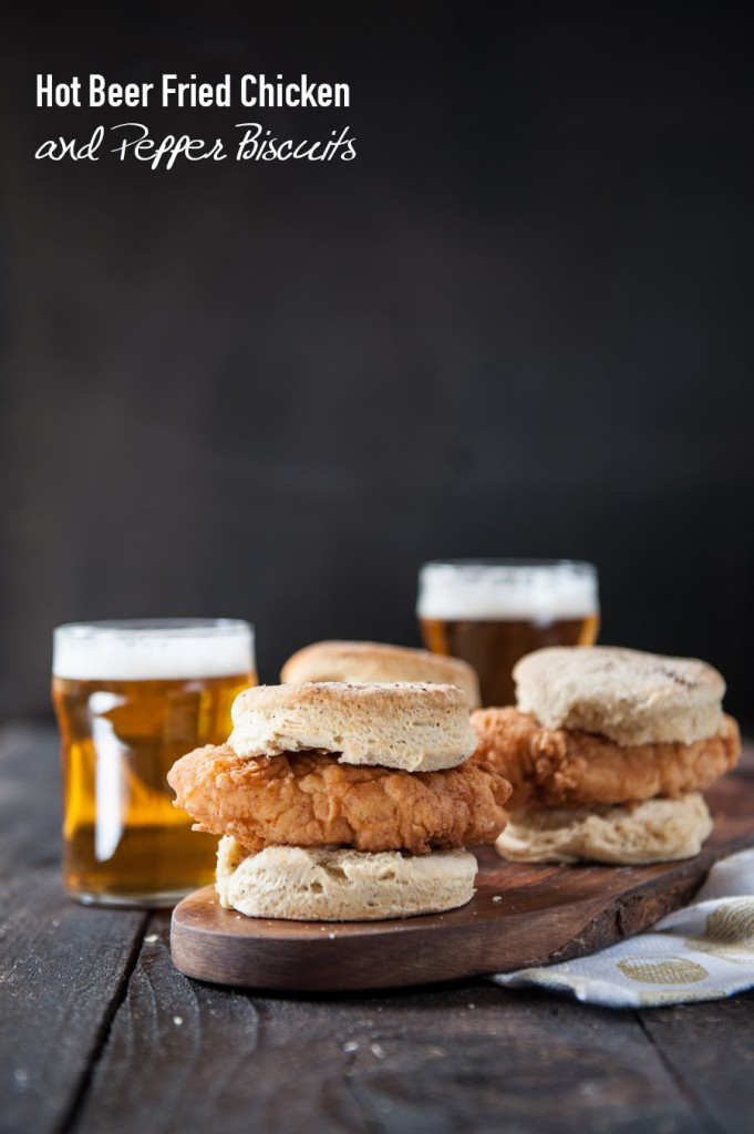 Hot Beer Fried Chicken and Pepper Biscuits P