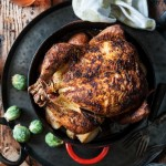 Beer Brined Faux-tisserie Roast Chicken
