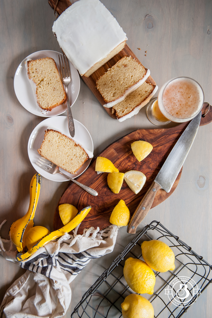 Lemon Beer Pound Cake -2