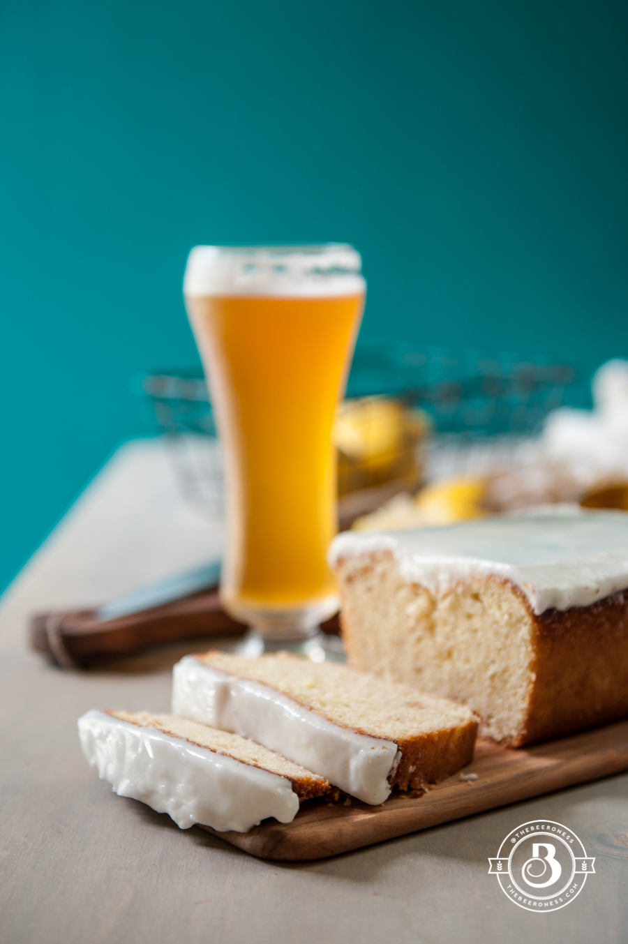 Lemon Beer Pound Cake -4