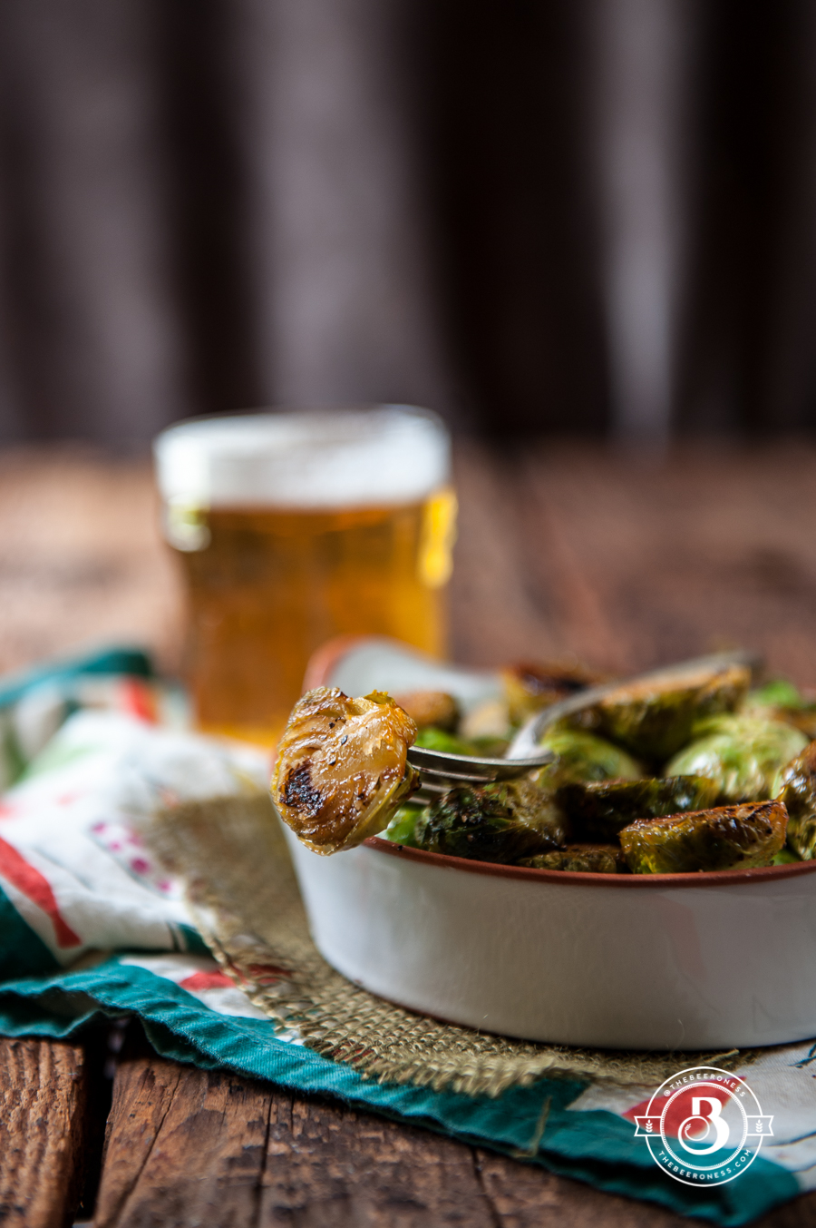 Sriracha Honey Beer Brussels Sprouts -4