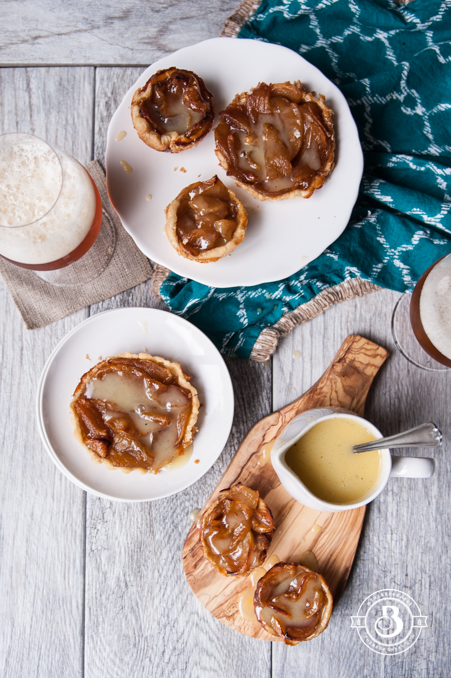 Caramelized Apple Tart with Saison Crème Anglaise - The Beeroness