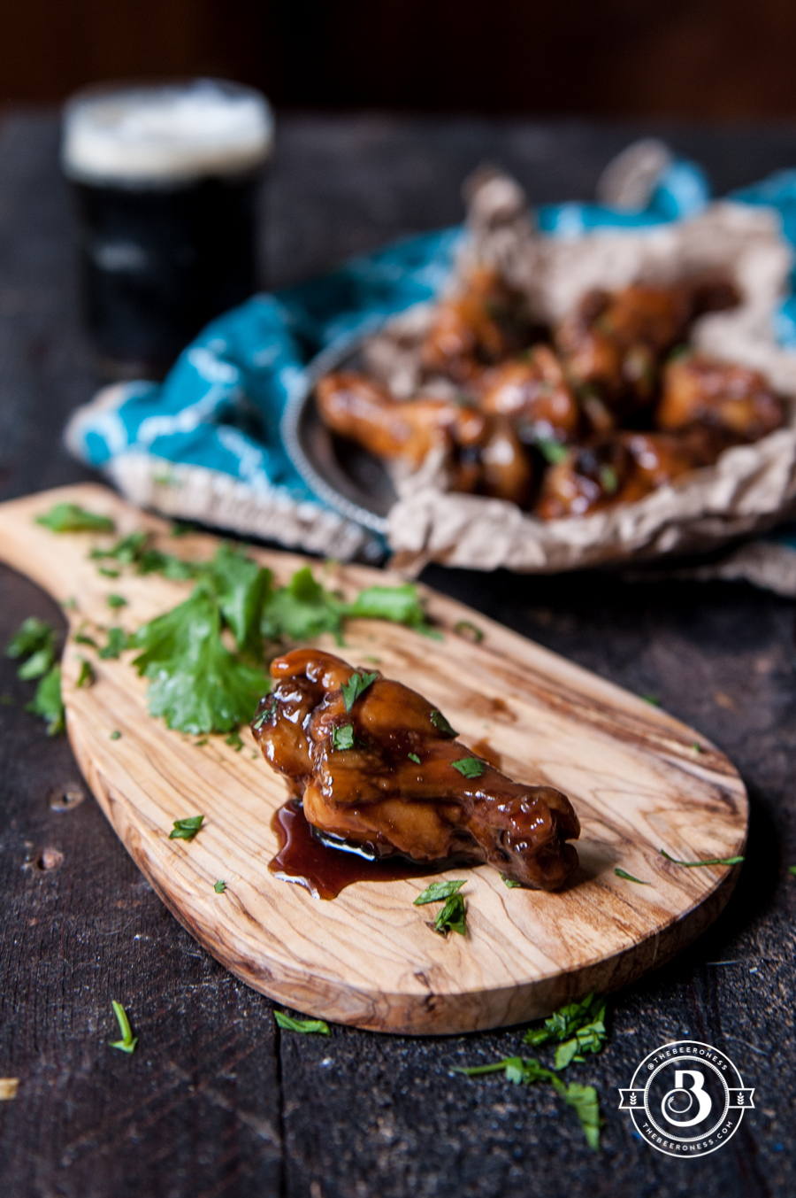 Crispy Honey Porter Sticky Baked Chicken Wings 1