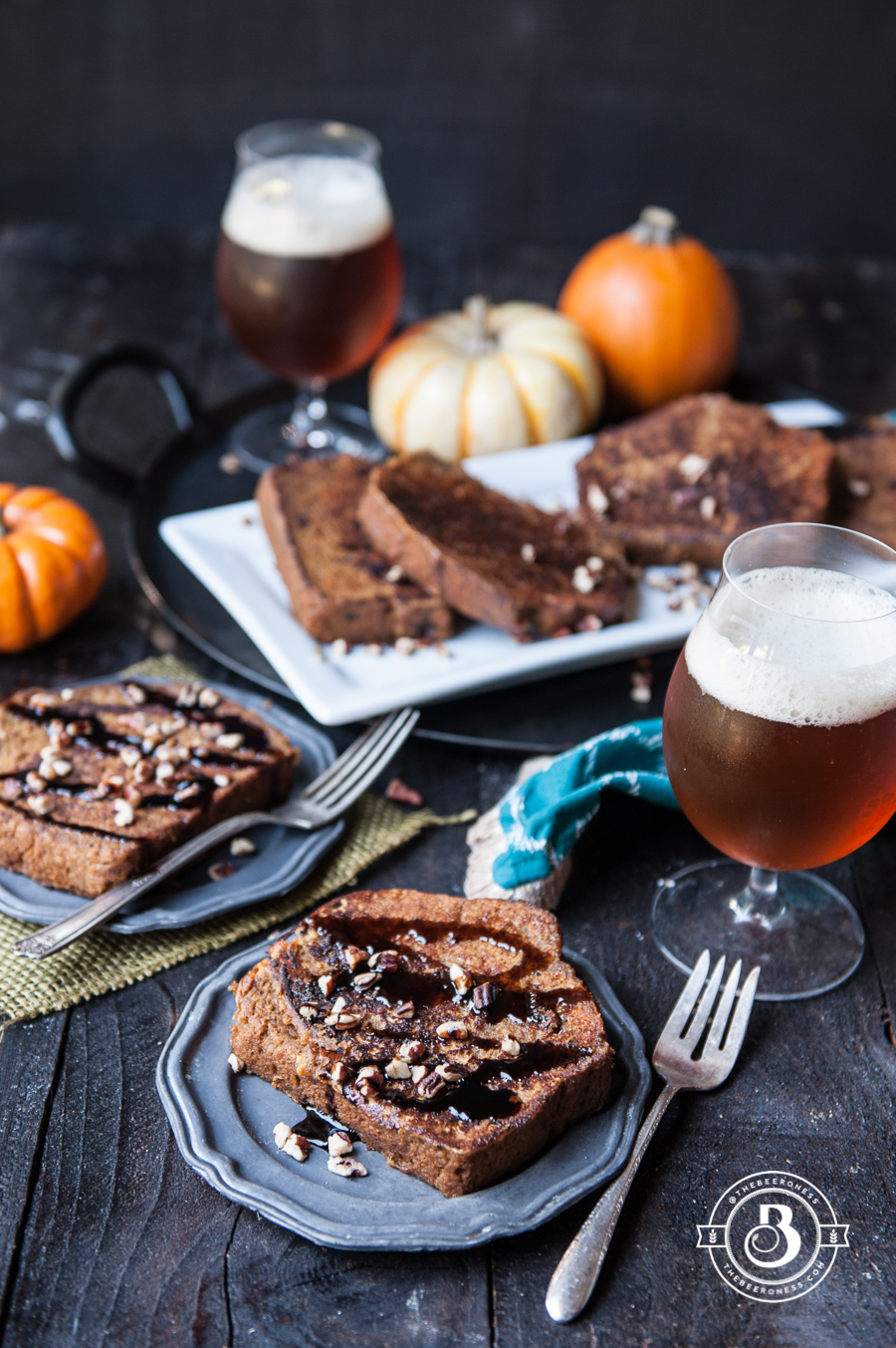 Pumpkin Beer Bread French Toast -2