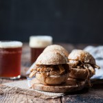 Slow Cooker Honey Chili Pulled Beer Chicken Sliders