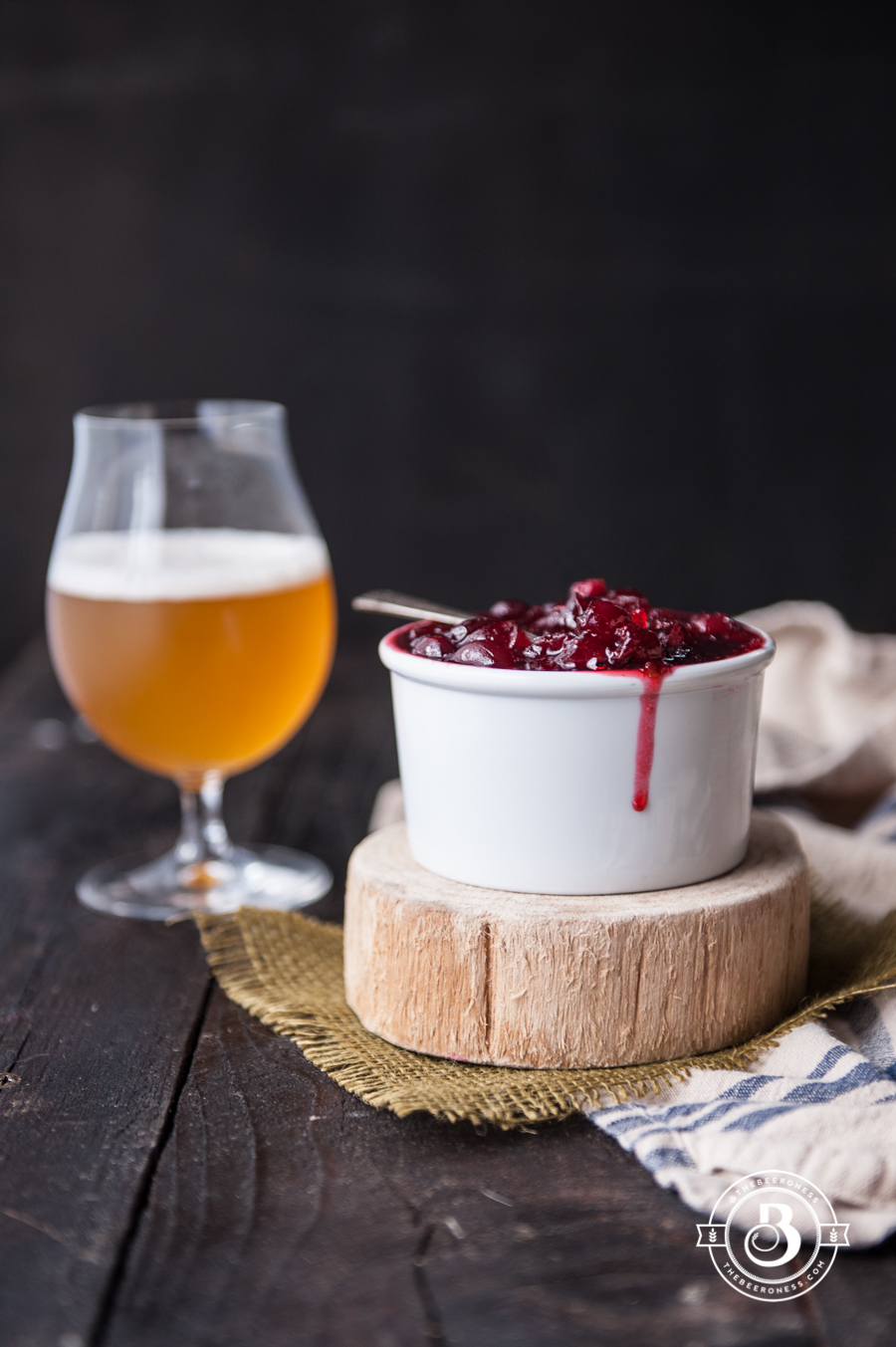 Chipotle White Ale Cranberry Sauce