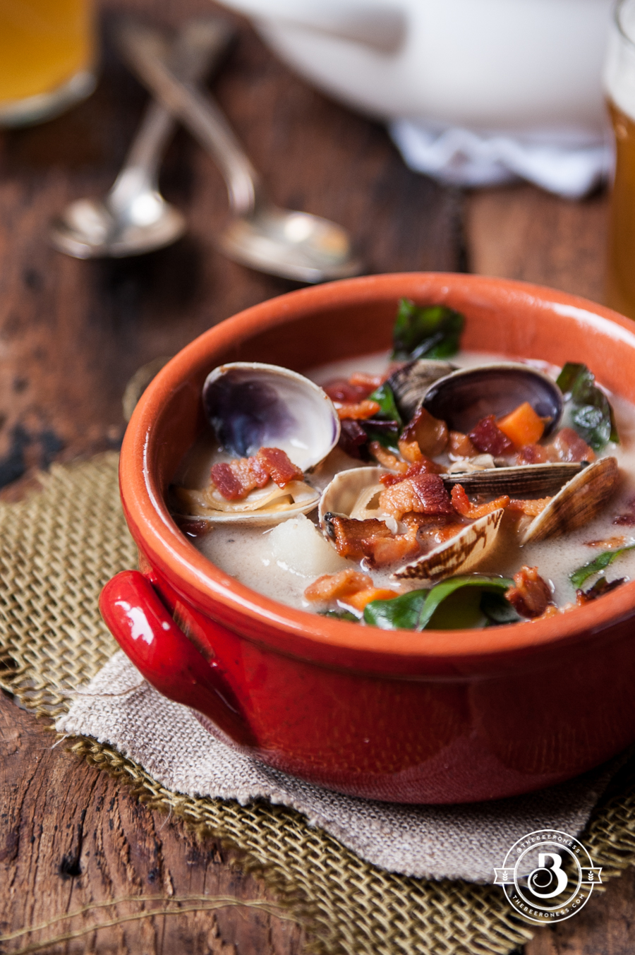 Coconut Beer Steamer Clam Chowder - The Beeroness
