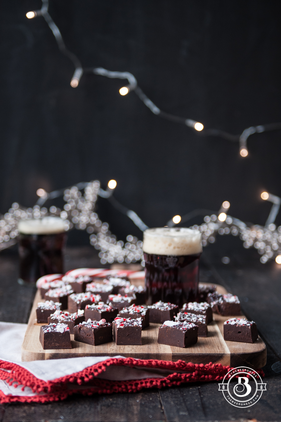 Holiday Ale Candy Cane Truffle Fudge. Only takes 10 minutes, and it's crazy good.