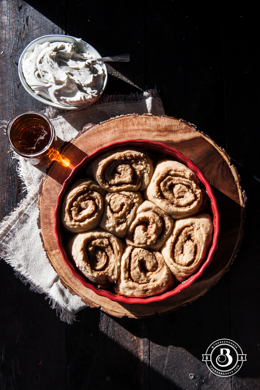 No Yeast Vanilla Brown Sugar Beer Cinnamon Rolls1