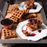 Peanut Butter Belgian Ale Waffles with Blackberry Gose Syrup + Four Secrets to the Perfect Waffles