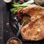 Mushroom Stout Skillet Chicken Pot Pie (with Vegan Option)