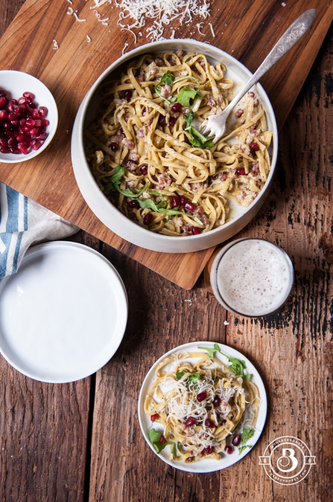 Drunk Pasta Carbonara with Pomegranates5