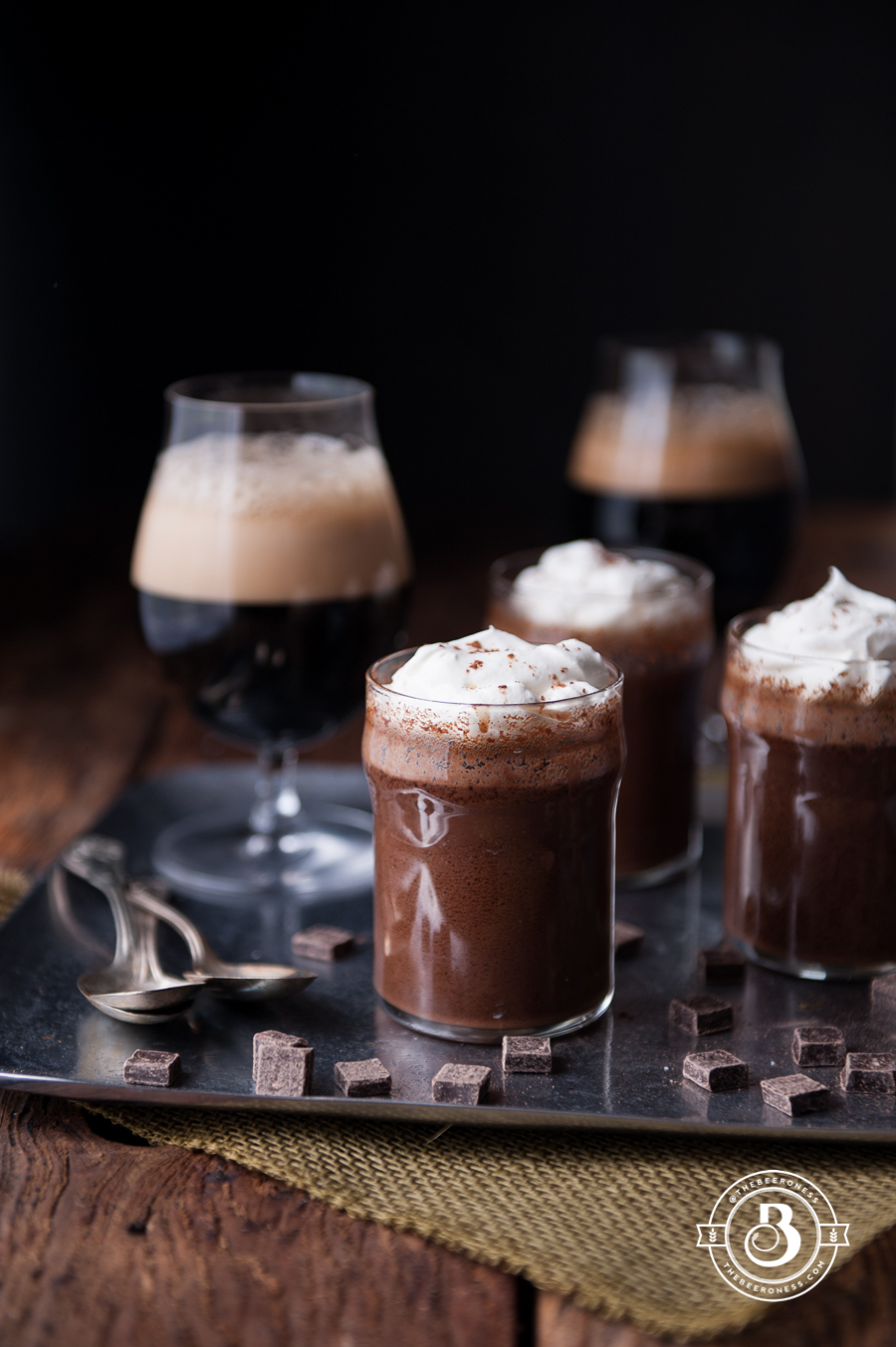 Simple Make Ahead Chocolate Stout Pot de Crème6