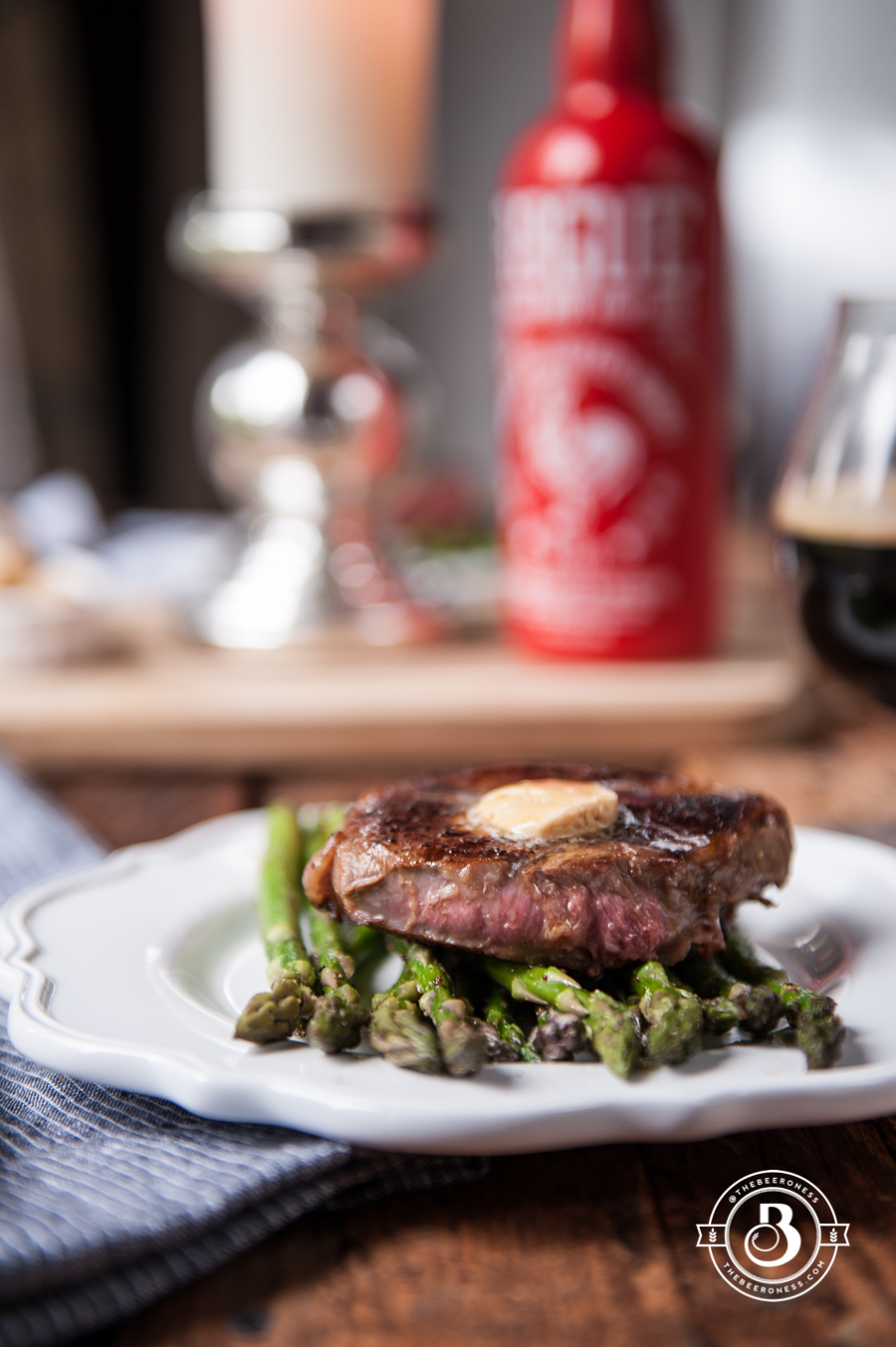 Stout Steak with Sriracha Beer Butter For Two2