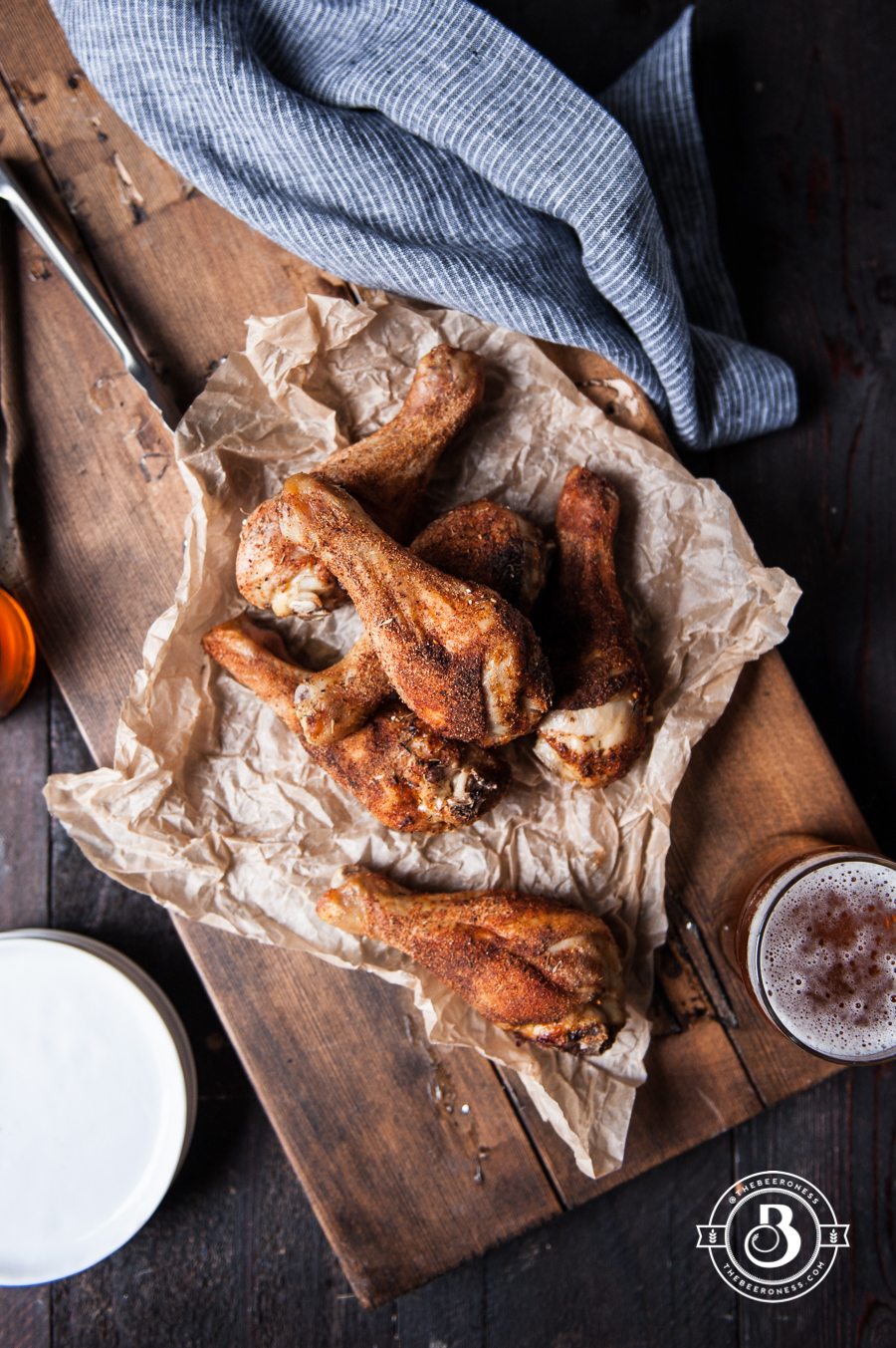 Beer Brined rotisserie Spiced Chicken Legs1