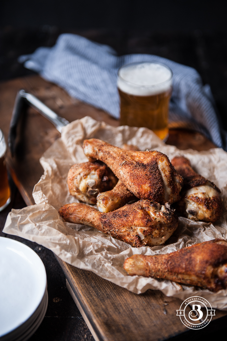 Beer Brined Rotisserie Spiced Chicken Legs - The Beeroness