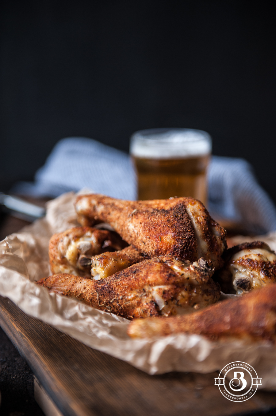 Beer Brined rotisserie Spiced Chicken Legs4