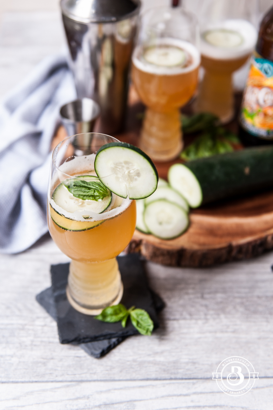 Beer Cocktail Recipe-Cucumber Basil IPA Cooler1