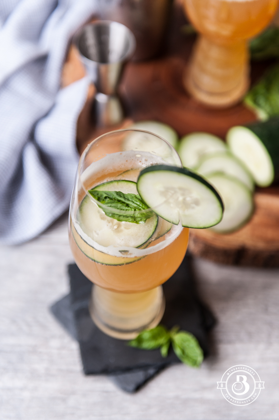 Beer Cocktail Recipe-Cucumber Basil IPA Cooler2