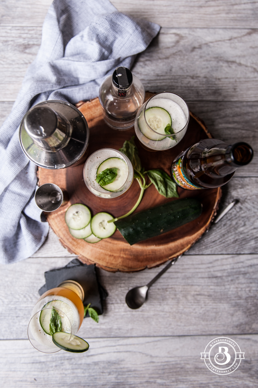 Beer Cocktail Recipe-Cucumber Basil IPA Cooler3