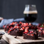 Chocolate Covered Strawberry Stout Brownies