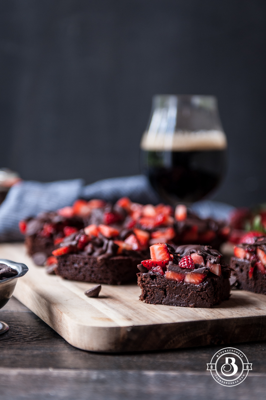 Chocolate Covered Strawberry Stout Brownies1