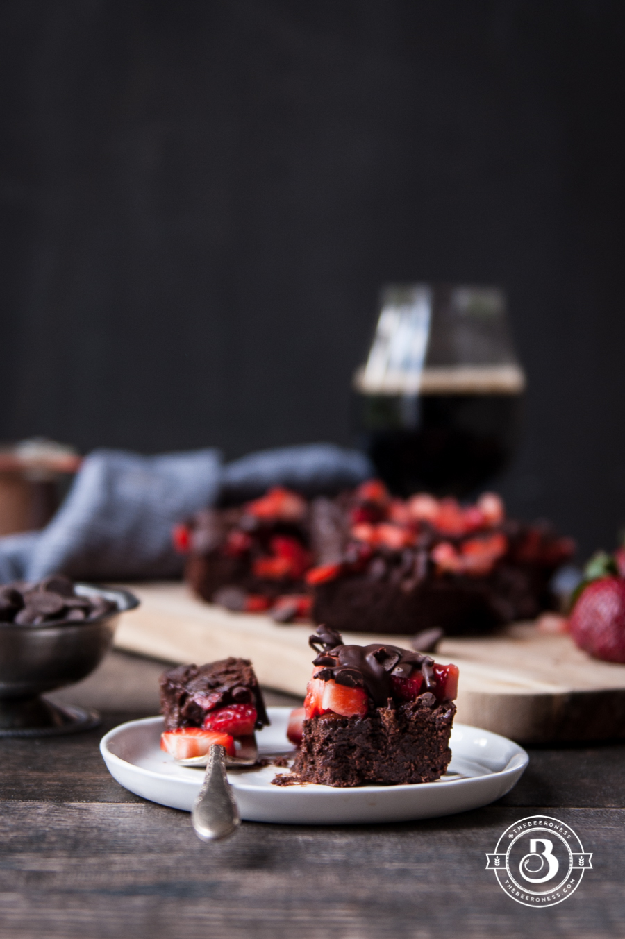 Chocolate Covered Strawberry Stout Brownies4