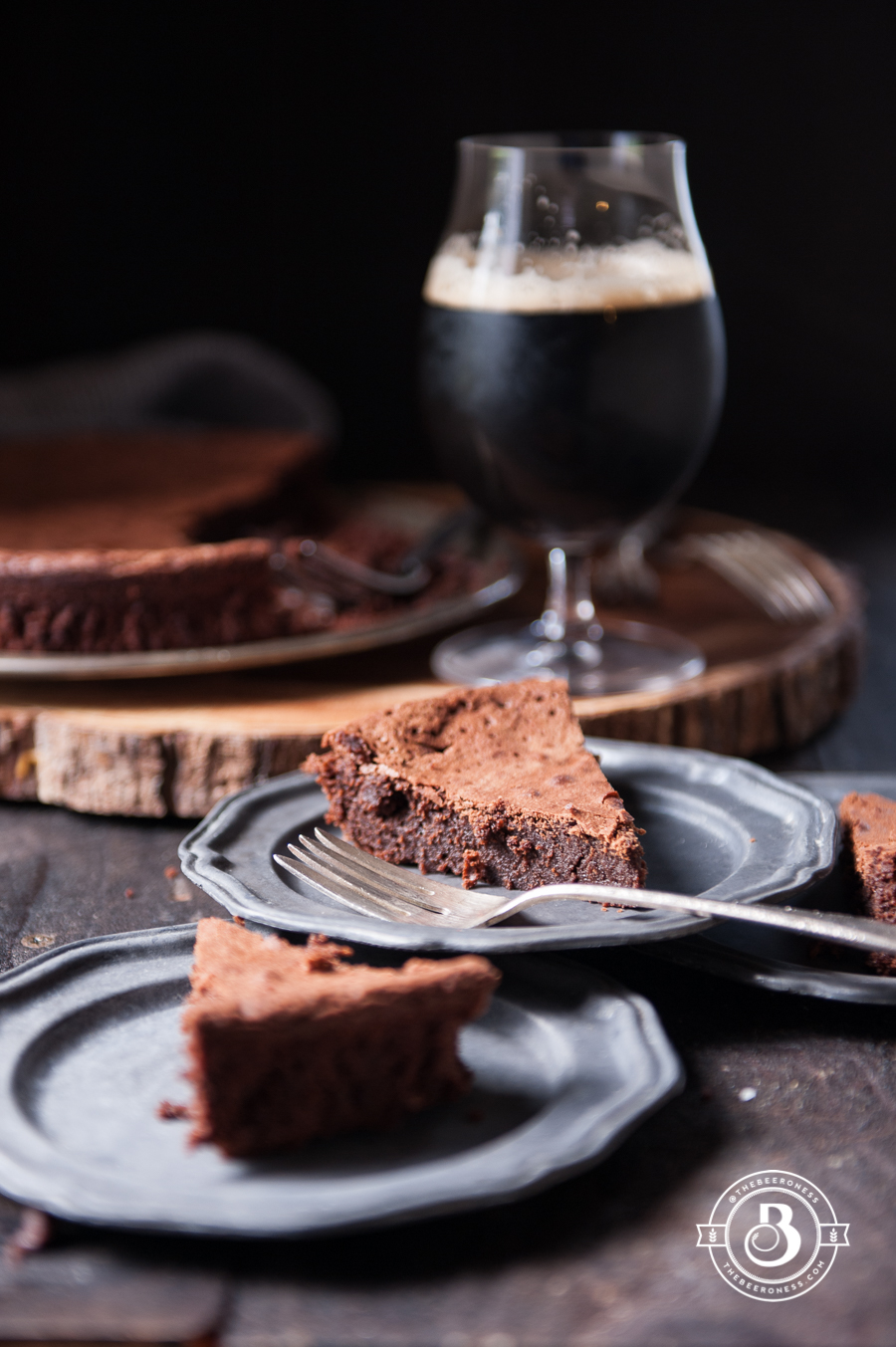 Espresso Stout Chocolate Soufflé Cake - The Beeroness