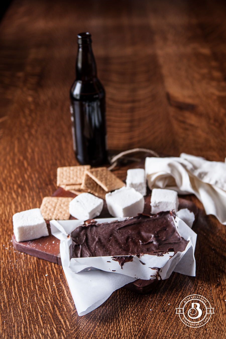 Beer S'Mores Stout Chocolate Bar and Belgian Ale Marshmallows1