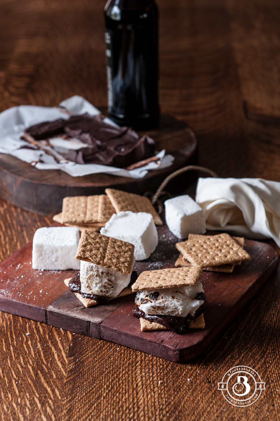 Beer S'Mores Stout Chocolate Bar and Belgian Ale Marshmallows2