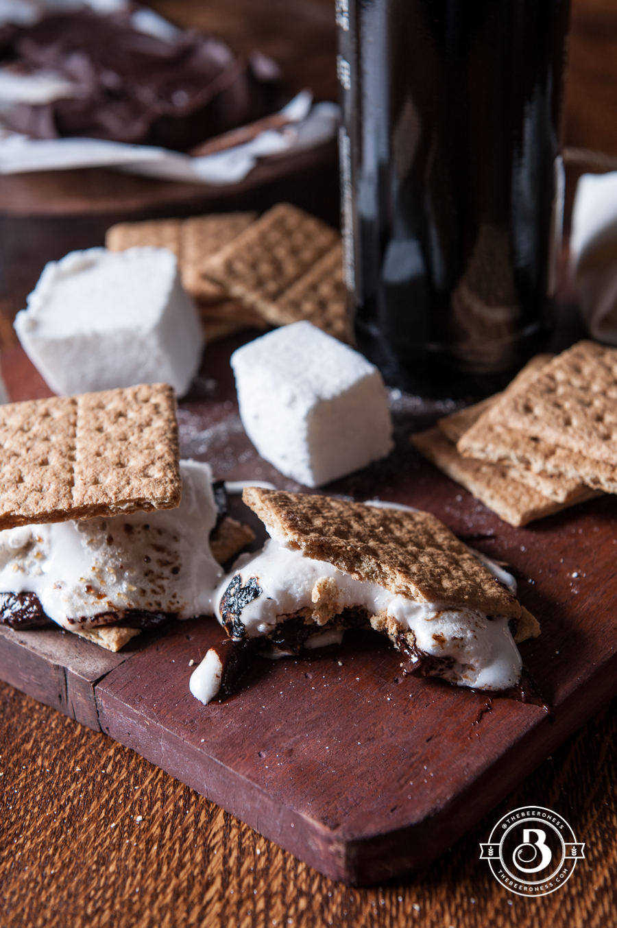 Beer S'Mores Stout Chocolate Bar and Belgian Ale Marshmallows4
