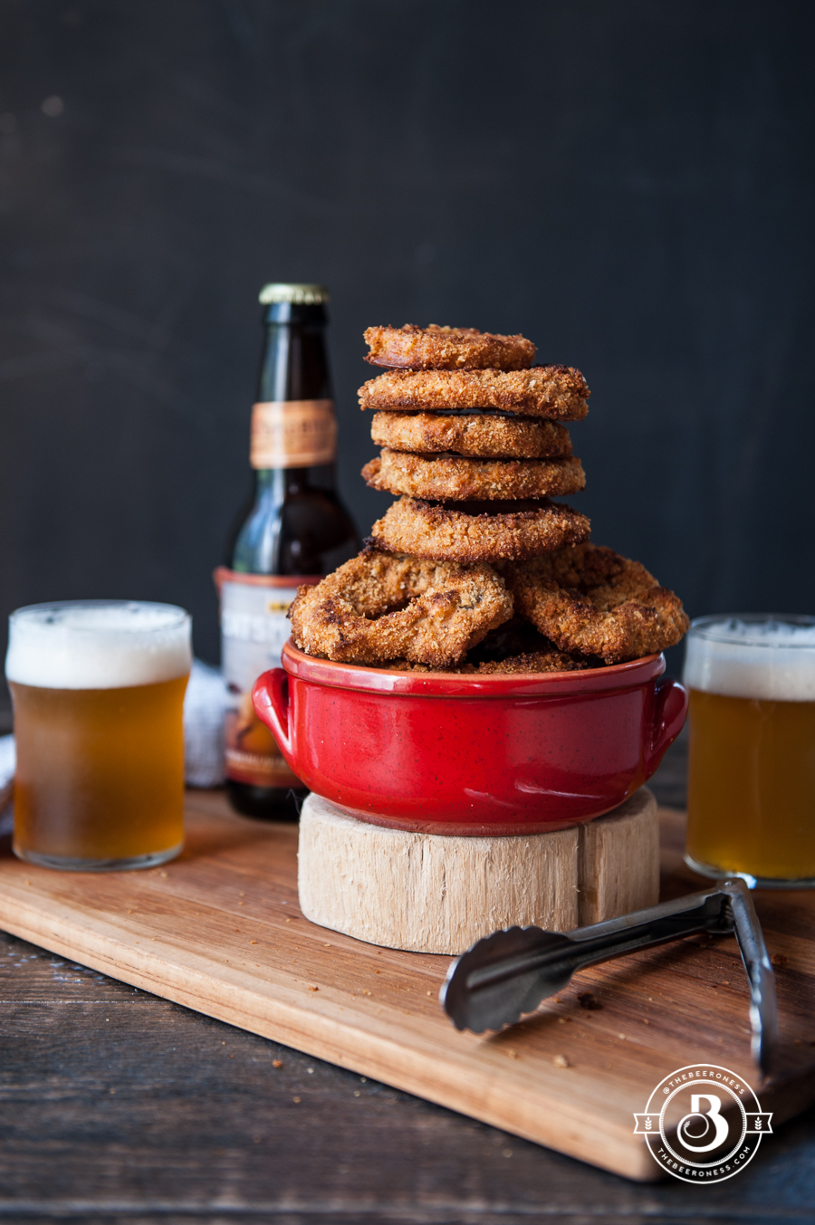 Crispy Oven Beer Battered Onion Rings3