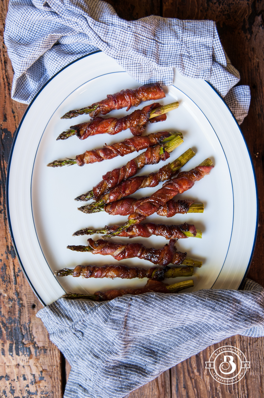 Honey Stout Glazed Bacon Wrapped Asparagus3
