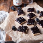 Vanilla Shortbread and Blackberry Beer Jam Bars