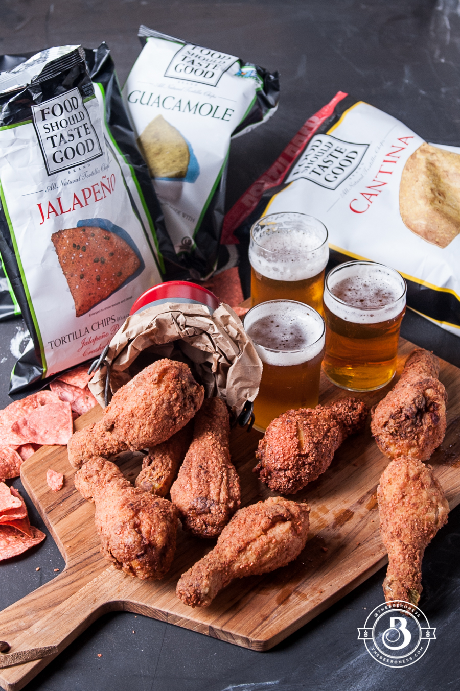 Jalapeno Chip Crusted Beer Brined Fried Chicken8
