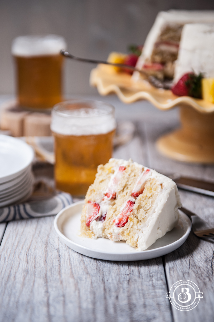 Pineapple Layer Cake With Cream Cheese Frosting