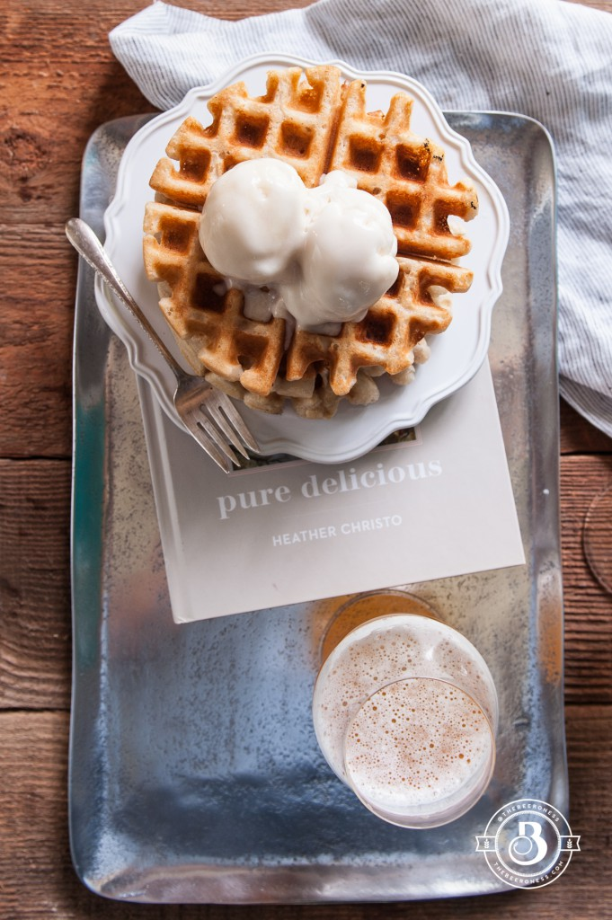 Pure Delicious: Free Beer Waffle Sundaes (egg free, dairy free, gluten free, nut free)