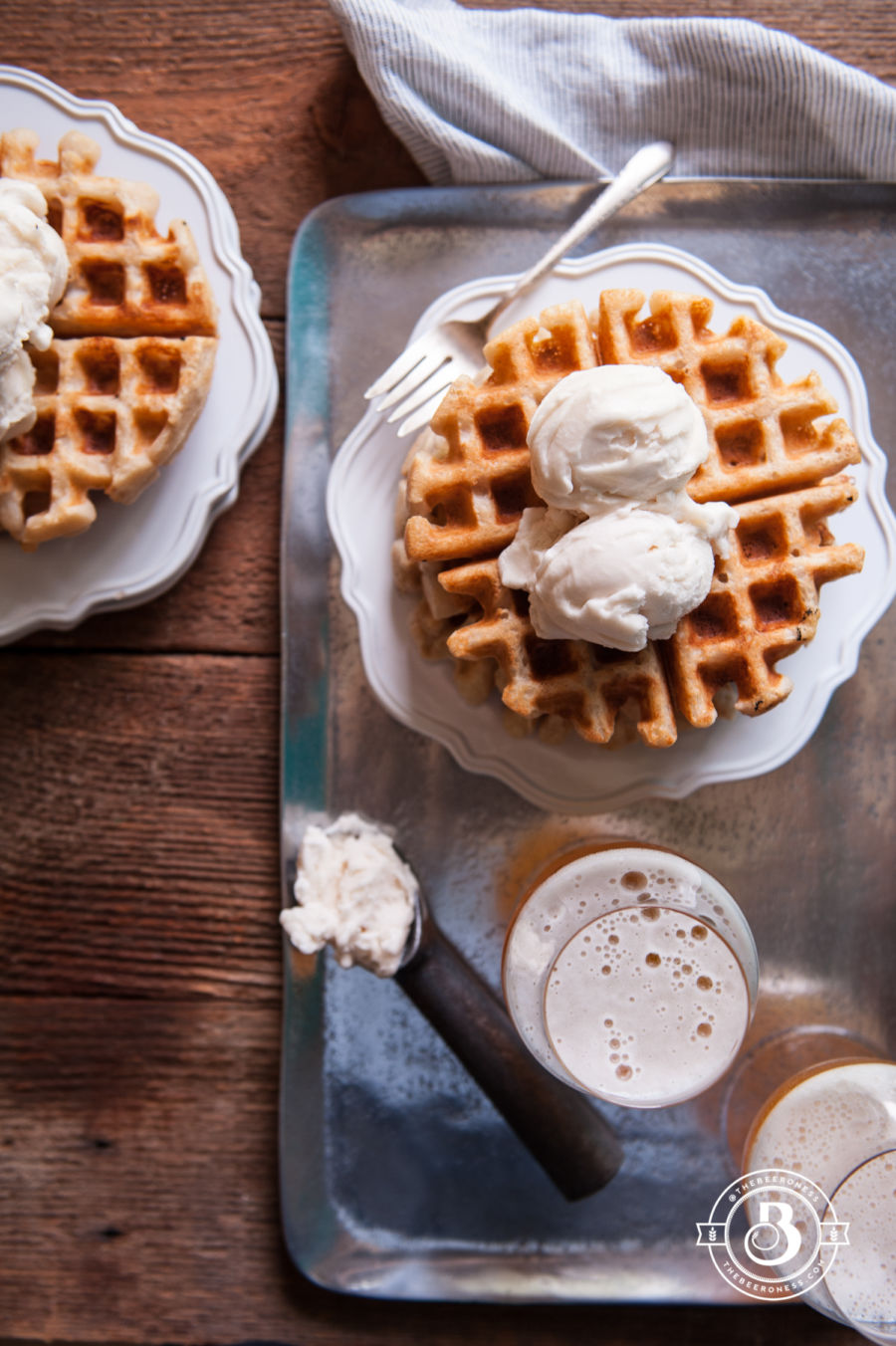 Pure Delicious Free Beer Waffle Sundaes (egg free, dairy free, gluten free, nut free)6