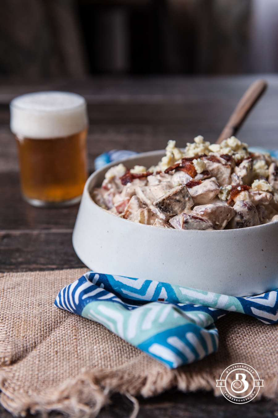 Beer Bacon and Blue Cheese Potato Salad3