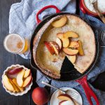 Beer Dutch Babies Oven Pancakes with Peaches and Cream