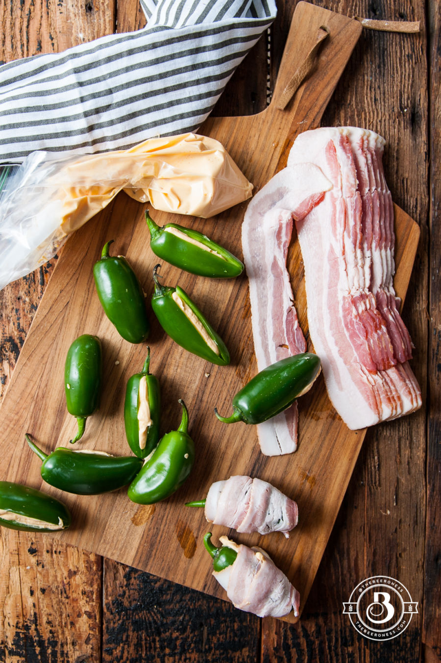 Grilled Beer Cheese Stuffed Bacon Wrapped Jalapeños & A Grill Giveaway!