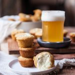 Jalapeno Cream Cheese Stuffed Beer Cornbread Muffins