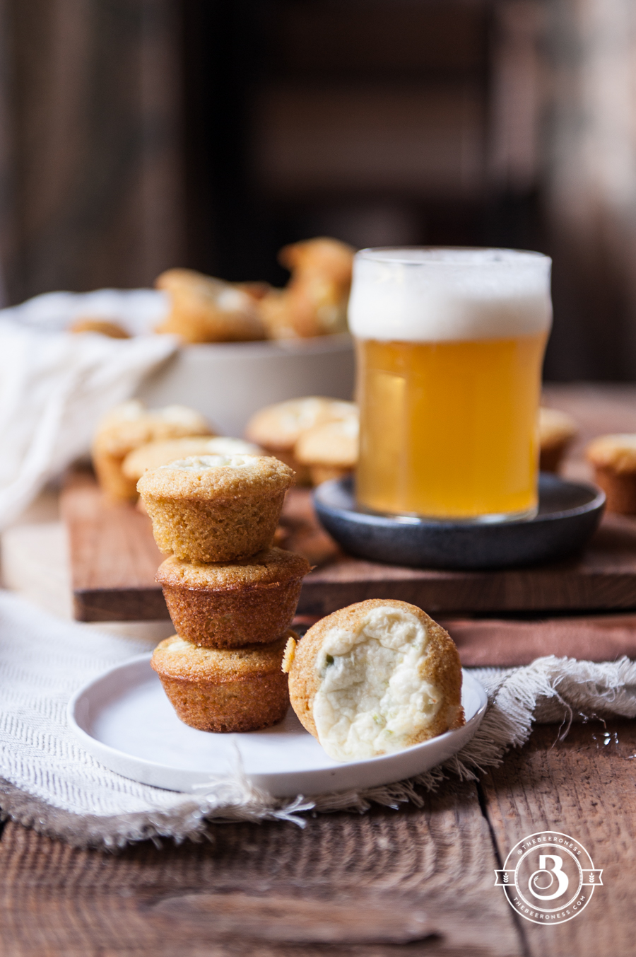 Jalapeno Cream Cheese Stuffed Beer Cornbread Muffins2
