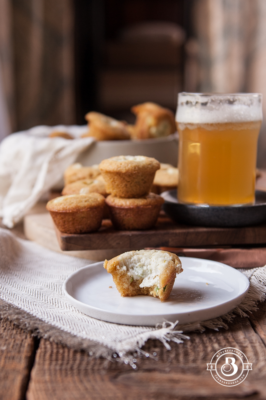 Jalapeno Cream Cheese Stuffed Beer Cornbread Muffins3