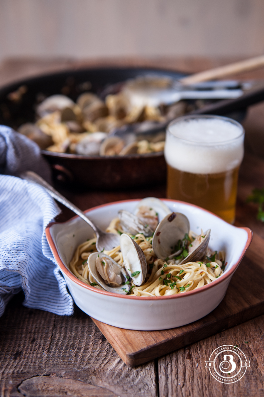 Beer Steamer Clam Linguini - The Beeroness