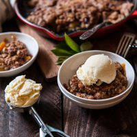 Brown Sugar Barley and Belgian Ale Peach Skillet Crisp8