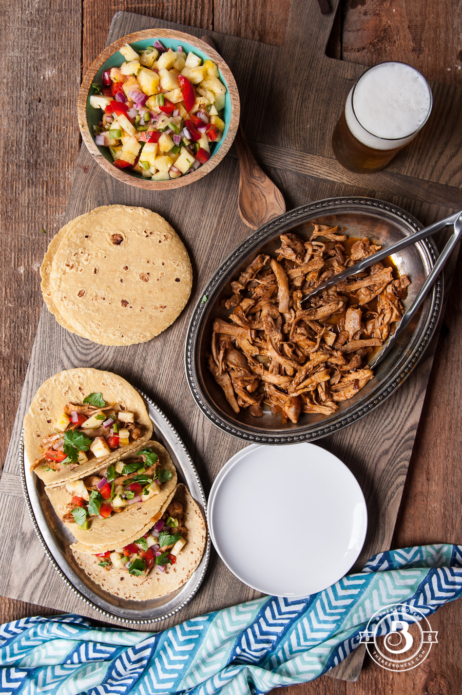 Chili Beer Chicken Tacos with Pineapple Salsa1