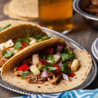 Chili Beer Chicken Tacos with Pineapple Salsa2