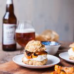 Grilled Apricot Saison Shortcakes with Ginger Mascarpone Whipped Cream